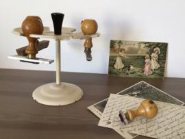 Vintage stempelmolen stempel houder molen met Franse stempels