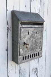 Franse vintage zinken brievenbus klein model