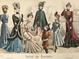 Lithographie Journal des Demoiselles modes de Paris C