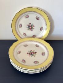 Digoin Sarreguemines Veritable opaque Graziella 1930 6 platte borden