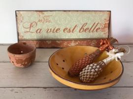 Franse fruittest fruitschaal terracotta uit Dieulefit