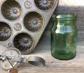 Weckpot, groen glas