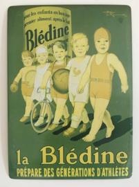 Franse reclamekaart carte metal La Bledine