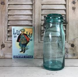La Lorraine weckpot weckfles turquoise glas met distel