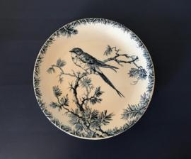 Porcelaine opaque de Gien provençal wandbordje met zwaluw