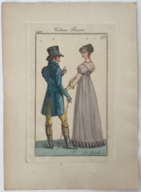 Modeprent in kleur Journal des dames et des modes