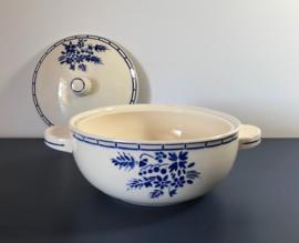 Badonviller terrine met deksel demi-porcelaine 1923