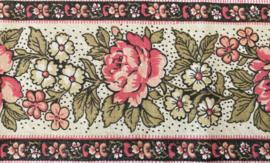 Provençaalse randstof bloemen roze quilt randstof Frans B