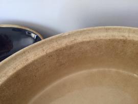 Grote ovale terrine Baeckeoffe Cicogne (ooievaar) met deksel