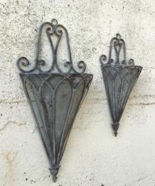 Metalen Franse kleine muurhanger muurpot decoratief