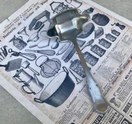 Juslepel sauslepel met tussenschot Varig brocante