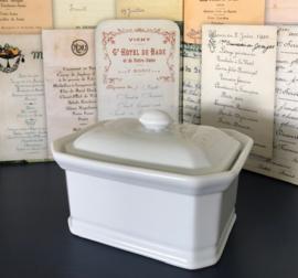 Apilco France porseleinen paté terrine vintage