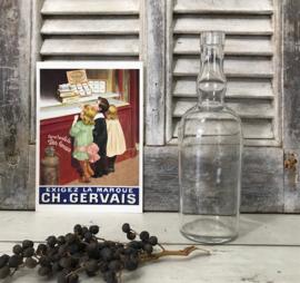 Kristalheldere mond geblazen likeur fles van G. de Chartreuse