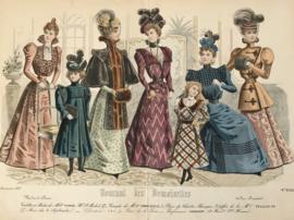 Lithographie Journal des Demoiselles modes de Paris B