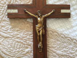 Antiek Frans kruisbeeld crucifix INRJ