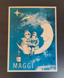 Frans reclamebord Maggi metaal trade mark Maggi Lune