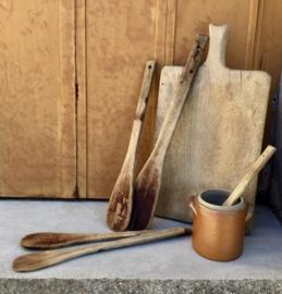 Set ambachtelijke Franse spatels c.q. pollepels