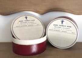 Vintage Franse apothekers doosjes pillendoosjes Ph. Redon rood