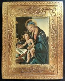 Icoon reproduktie van Sandro Botticelli (1444-1510) Vierge et Enfant Madonna