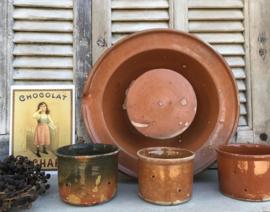 Ambachtelijke terracotta kaasmal aardewerk geglazuurd