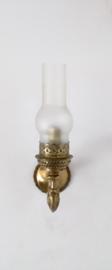 Klassiek Frans goud gepatineerd metalen wandlampje