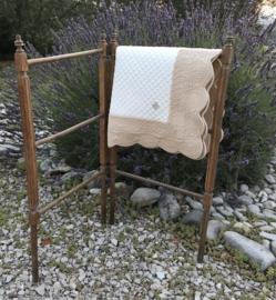 Antiek Frans houten wasrek handdoekenrek