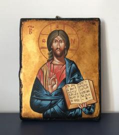 Christus Pantocrator Roemeens icoon open boek