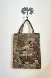 Beren gobelin tas in fijn geweven stof