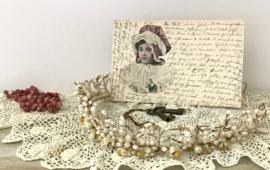 Franse bruidskroon, Tiara met wasknoppen plus Victoriaanse wax appelbloesems