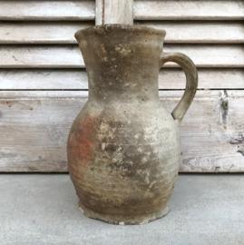 Klein antiek Frans kruikje kannetje grès aardewerk