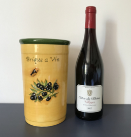 Wijnkoeler uit de Provence olijven en cigale