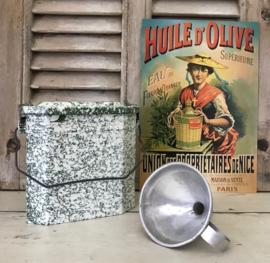 Vintage Franse aluminium trechter