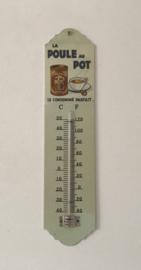 Frans geëmailleerde thermometer La Poule au Pot