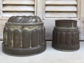 Antieke Franse vertinde puddingvorm / kleine tulbandvorm