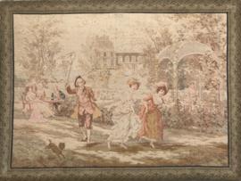Antiek Frans Gobelin doek  d'après Alonso Perez