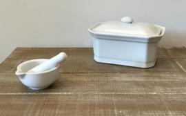 Apilco porseleinen botervloot beurrier terrine terrine paté met deksel