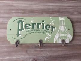 Perrier wandplank groen met drie haken