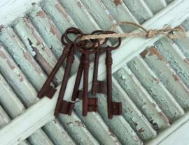 Zes antieke sleutels uit Frankrijk