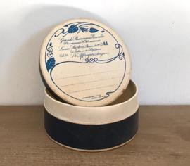 Vintage Franse apothekers doosje pillendoosje Ph. Redon blauw
