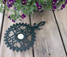 Groen geëmailleerde gietijzeren pannen onderzetter