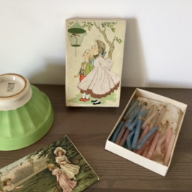 Vintage Frans doosje van Miki met verjaardagskaarsjes