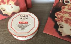 Vintage poederdoos Gibbs poudre de beauté de luxe Corail