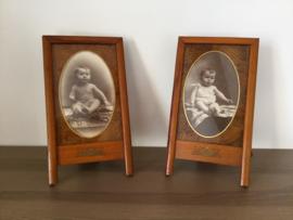 Fotolijstje met baby foto van omstreeks 1900