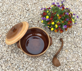 Franse houten louche oftewel soeplepel uit de Provence