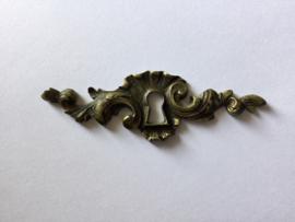 Frans antiek meubelbeslag sleutelplaatje messing