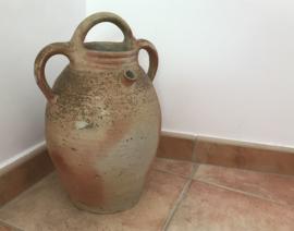 Antieke Franse waterkruik uit de Provence aardewerk cruche