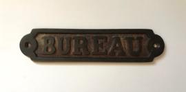 Frans gietijzeren deurbordje Bureau