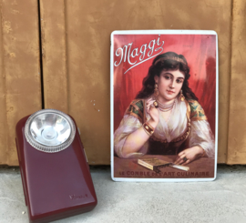 Wonder vintage mini zaklamp met beugel Bordeauxrood