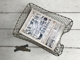 Antieke Franse metalen lectuurbak A4 formaat circa 1940