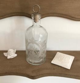 Frans geëtst badkamer flesje decoratie flesje